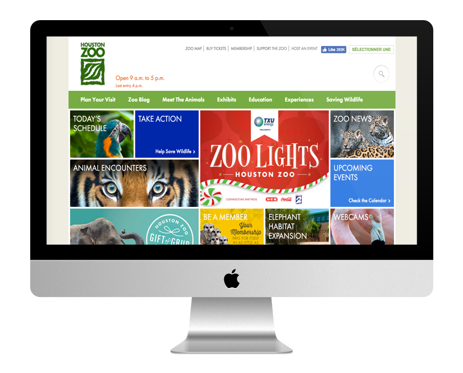 Site WordPress Zoo de Houston