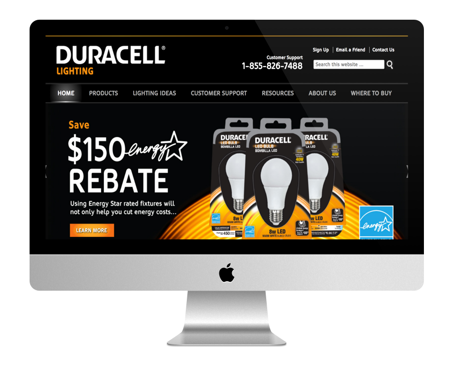 Site WordPress Duracell