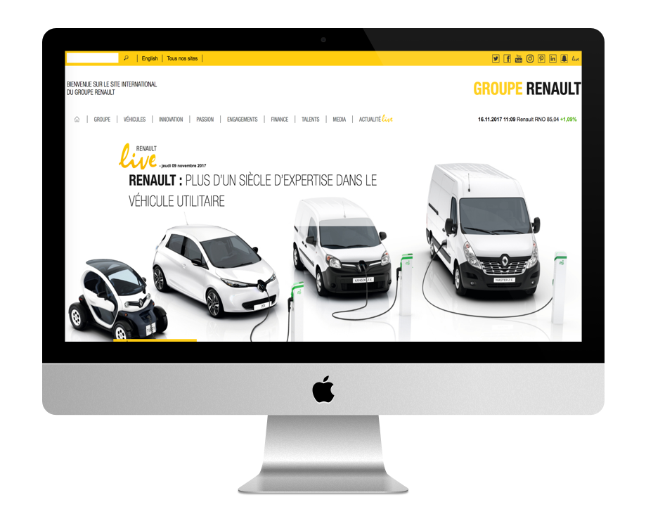 Site WordPress Groupe Renault