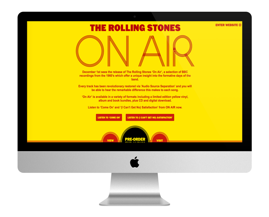 Site WordPress des Rolling Stones