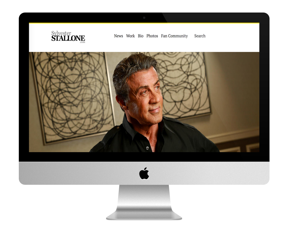 Site WordPress de Sylvester Stallone