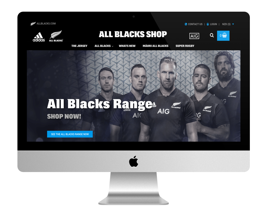Site WordPress des All Blacks