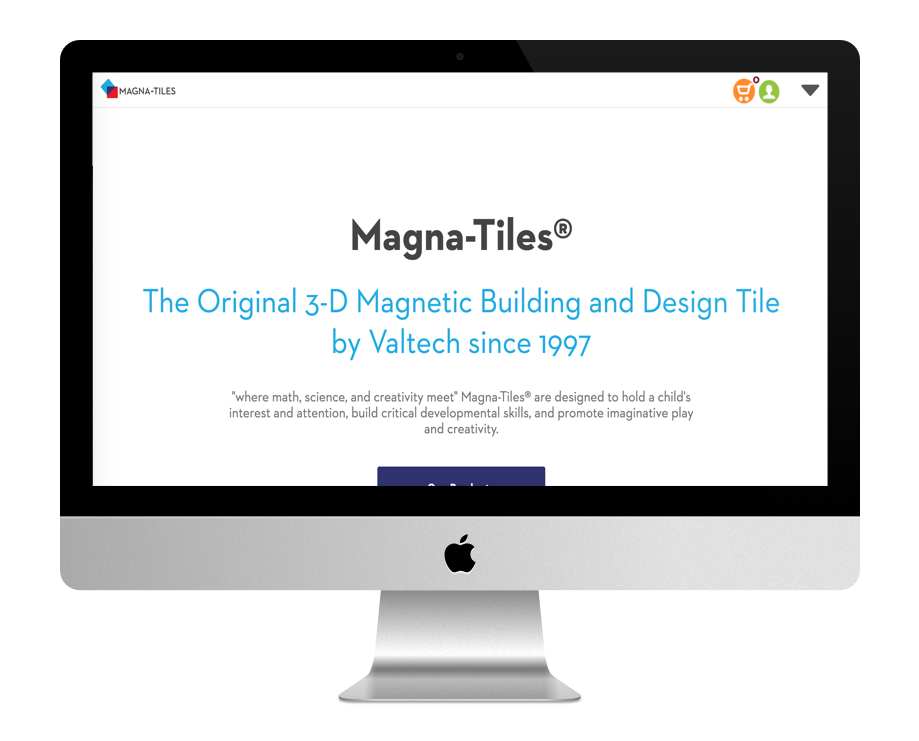 Site WordPress de Magna Tiles