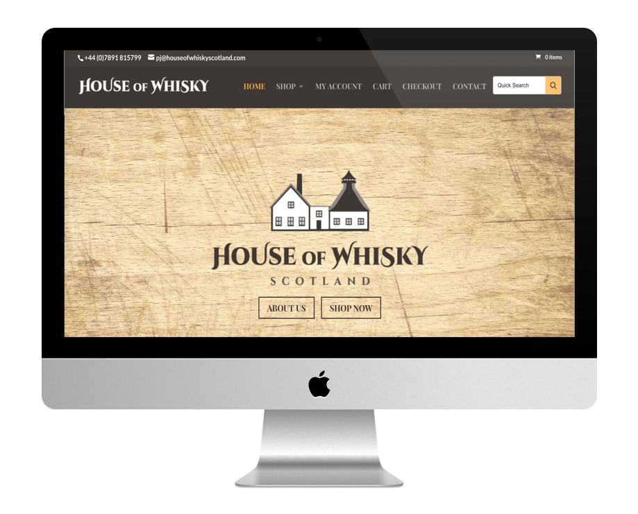 Site WordPress de la maison du Whisky écossais