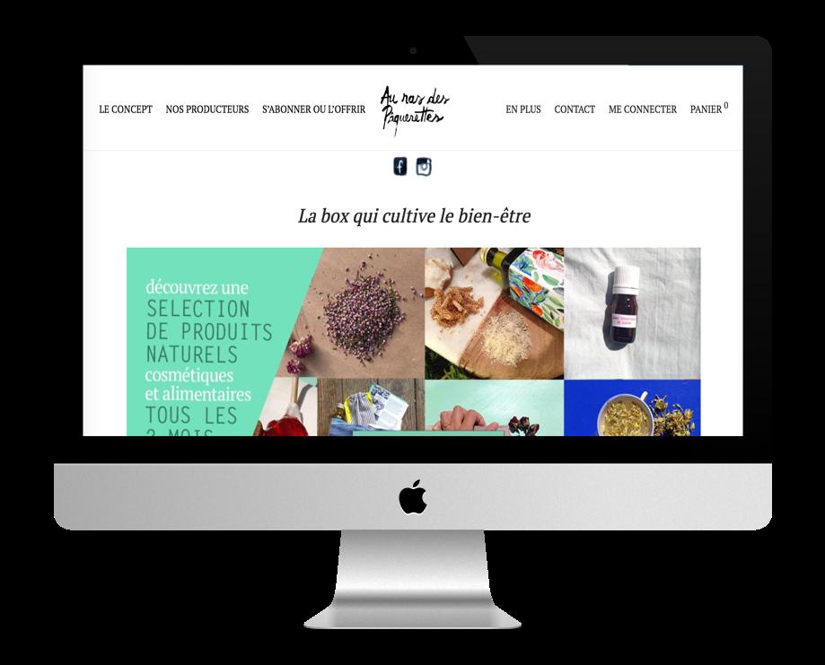 Site WordPress de Au Ras des Paquerettes